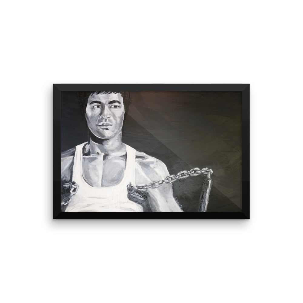 Bruce Lee Icons of the 70's Framed photo paper poster