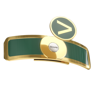 Golf Ball Marker Gold and Green