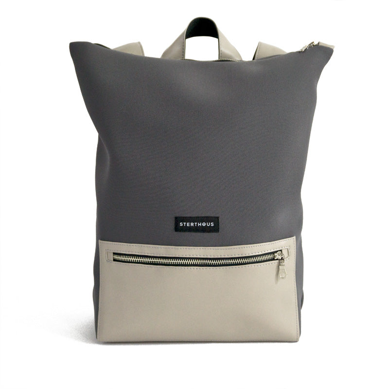 STERTHOUS - Neoprene Backpack with vegan leather and laptop pocket  | sustainable product design