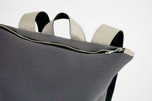 Neoprene Backpack with vegan leather and laptop pocket