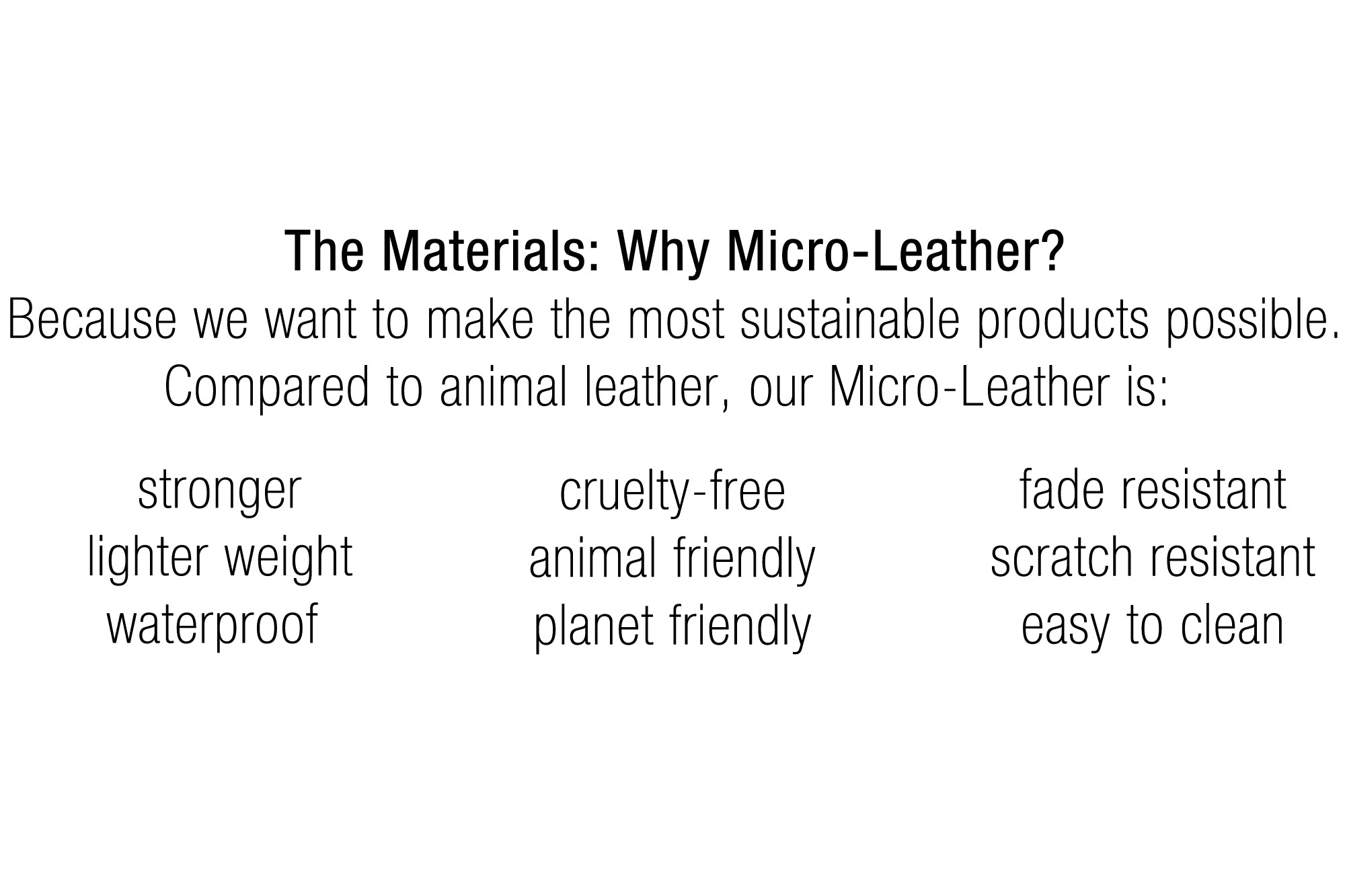STERTHOUS - vegan leather | sustainable product design | made in USA