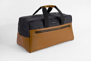STERTHOUS - felted wool weekender bag with vegan leather | sustainable product design | made in USA