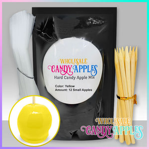 DIY Apple Kit-Yellow Plain Candy Apple- $18.00 each