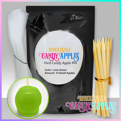 DIY Apple Kit-Lime Green Plain Candy Apple- $18.00 each