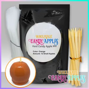 DIY Apple Kit-Orange Plain Candy Apple- $18.00 each