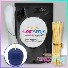 DIY Apple Kit-Navy Blue Plain Candy Apple- $15.00 each