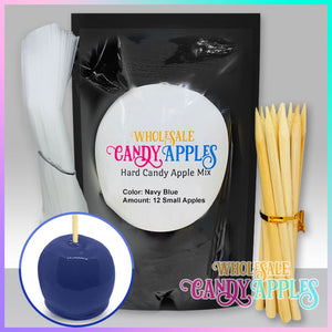 DIY Apple Kit-Navy Blue Plain Candy Apple- $18.00 each