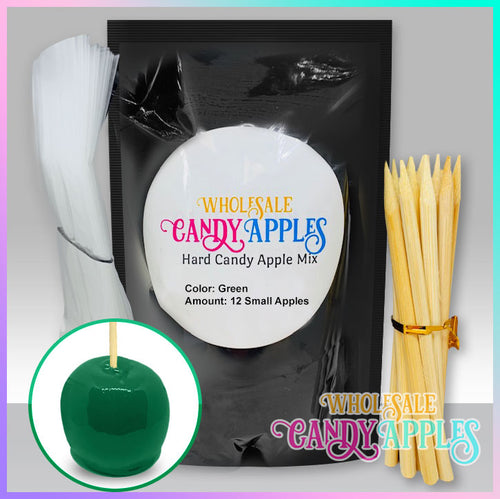 DIY Apple Kit-Green Plain Candy Apple- $18.00 each