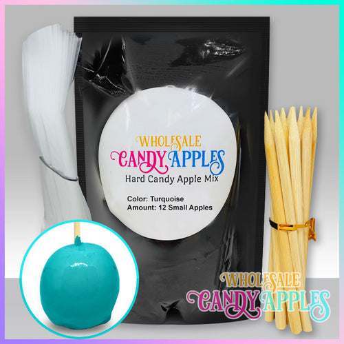 DIY Apple Kit-Turquoise Plain Candy Apple- $18.00 each