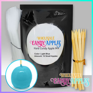 DIY Apple Kit-Baby Blue Plain Candy Apple- $18.00 each