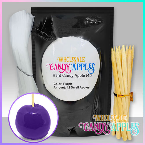 DIY Apple Kit-Purple Plain Candy Apple- $18.00 each