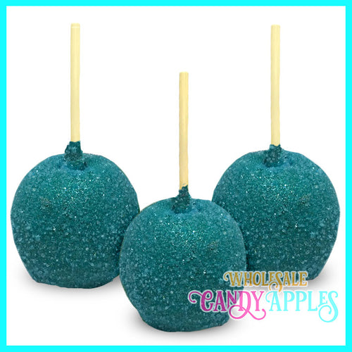 Blue Sugar Crystal Candy Apple