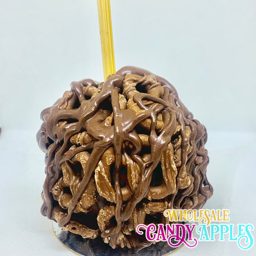Mini Caramel Apple With Milk Chocolate Pretzels