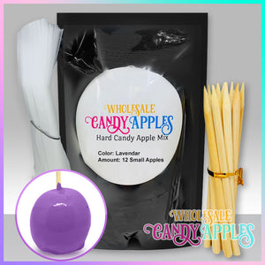 DIY Apple Kit-Lavender Plain Candy Apple- $18.00 each