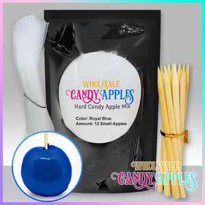 DIY Apple Kit-Royal Blue Plain Candy Apple- $18.00 each