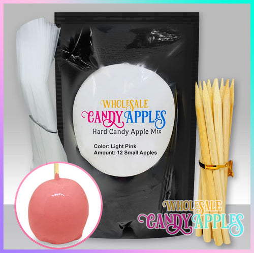 DIY Apple Kit-Light Pink Plain Candy Apple- $18.00 each