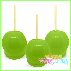 """JUST MIX""-Lime Green Plain Candy Apple- $11.00 each"