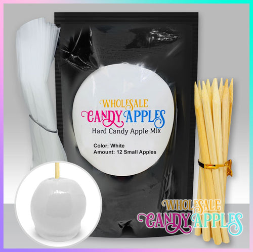 DIY Apple Kit-White Plain Candy Apple- $18.00 each