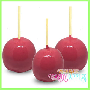 """JUST MIX""-Hot Pink Plain Candy Apple- $11.00 each"