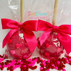 Valentine Heart Hard Candy Apples