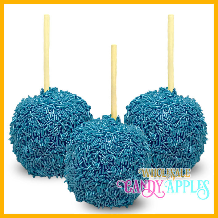 Shimmer Blue Sprinkle Candy Apples