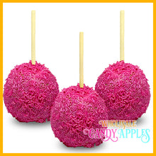 Shimmer Pink Sprinkle Candy Apples