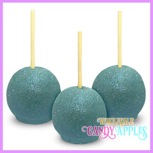 Baby Blue Glitter Candy Apples