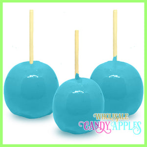 Baby Blue Plain Candy Apples