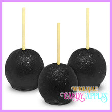 Black Glitter Candy Apples
