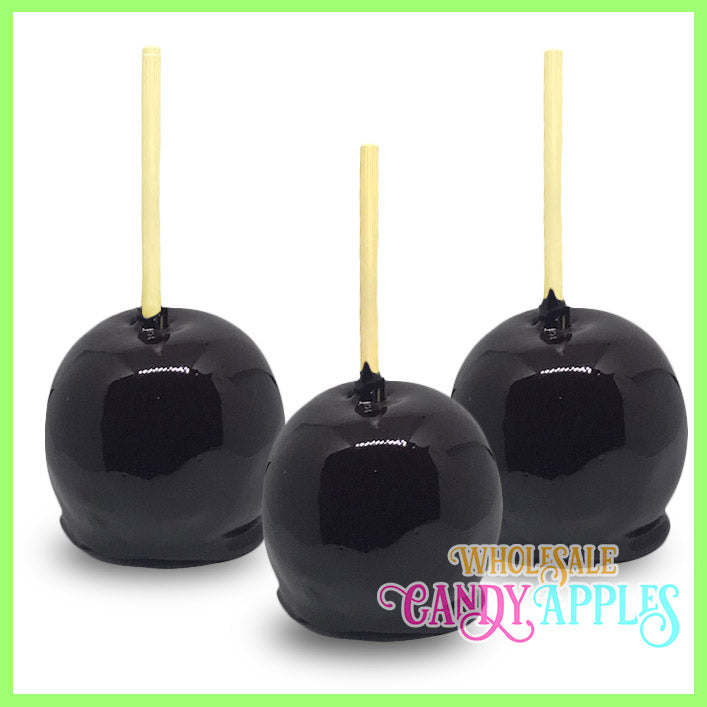 Black Plain Candy Apples