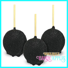 Black Sugar Crystal Candy Apples