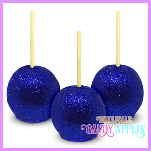 Blue Glitter Candy Apples