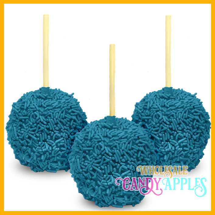 Blue Sprinkle Candy Apples