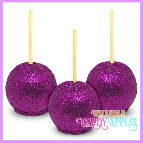 Lavender Glitter Candy Apples