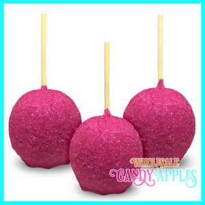 Hot Pink sugar Crystal Candy Apples