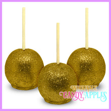 Gold Glitter Candy Apples