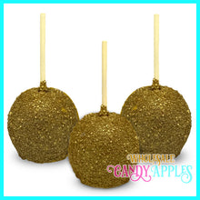 Gold Sugar Crystal Candy Apple