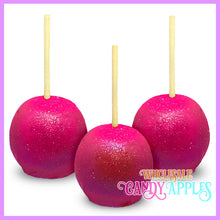 Hot Pink Glitter Candy Apples