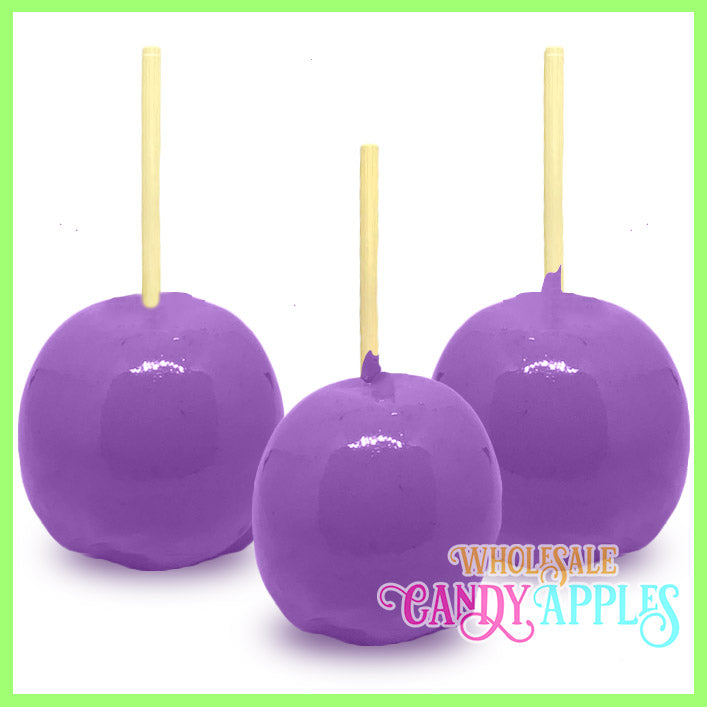 Lavender Plain Candy Apples
