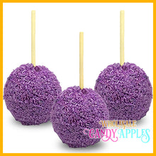 Shimmer Purple Sprinkle Candy Apples