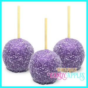 Lavender Sugar Crystal Candy Apple