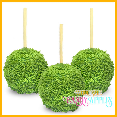 Lime Green Sprinke Candy Apples