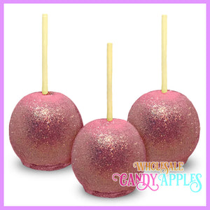 Light Pink Glitter Candy Apples