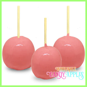 Light Pink Plain Candy Apples