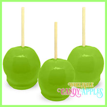 Lime Green Plain Candy Apples