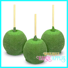 Green Sugar Crystal Candy Apples