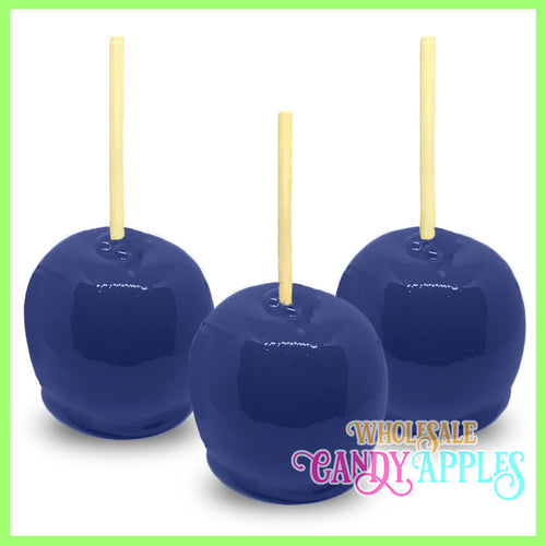 Navy Blue Plain Candy Apples