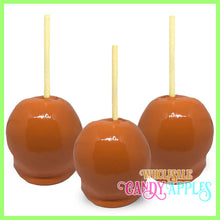 Orange Plain Candy Apples