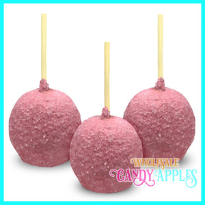 Light Pink Sugar Crystal Candy Apples