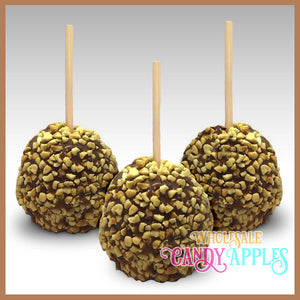 Mini Caramel Apple With Peanuts